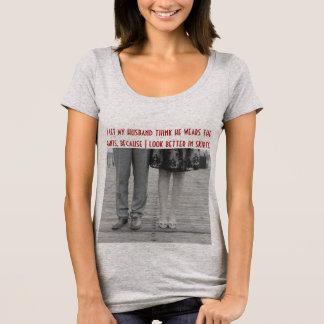 Camiseta del escote redondo de los pantalones de