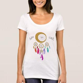 Camiseta del escote redondo del alma de Boho