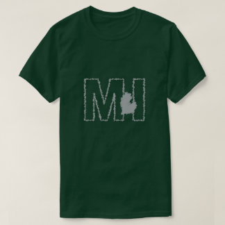 Camiseta del estado de Michigan MI