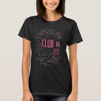 Camiseta del favor de fiesta del club del dulce 16