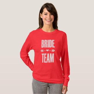 Camiseta del fiesta de Bachelorette del equipo de