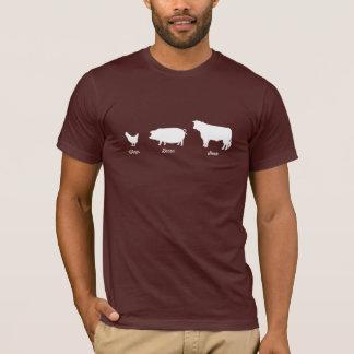 Camiseta del filete del tocino de las alas