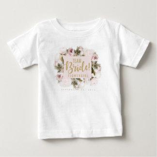 Camiseta del florista de la novia del equipo