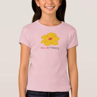 Camiseta del flower power de los chicas