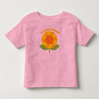 Camiseta del flower power de los niños