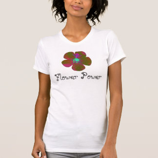 Camiseta del flower power del Hippie