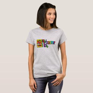 Camiseta del flower power del NACIDO EN EL