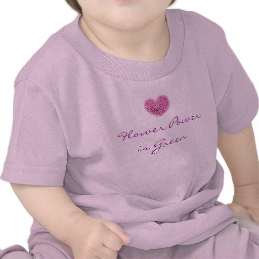 Camiseta del flower power para los bebés