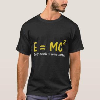 Camiseta del friki E=MC2