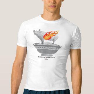 Camiseta del funcionamiento del Belly de cerdo de