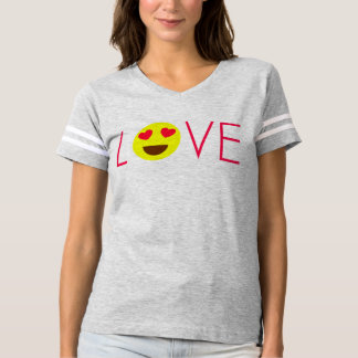 """Camiseta del fútbol de Emoji del """"AMOR"""""""