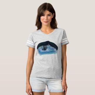 Camiseta del fútbol de las mujeres de la cola de