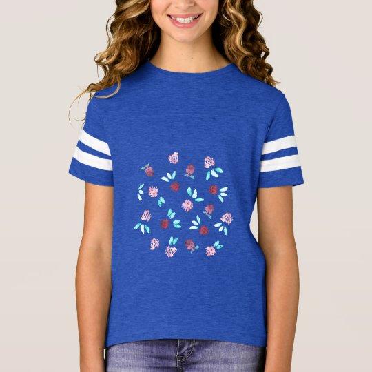 Camiseta del fútbol de los chicas de flores del
