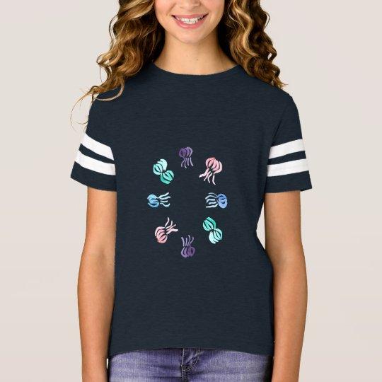 Camiseta del fútbol de los chicas de las medusas