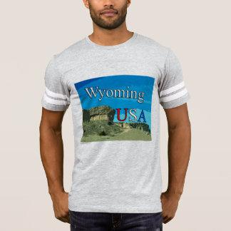 Camiseta del fútbol de los hombres de Wyoming los