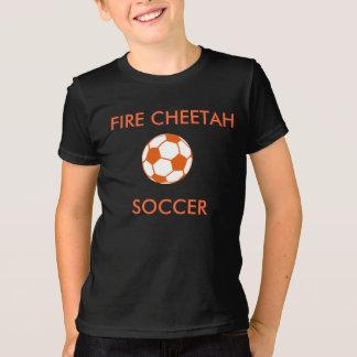 Camiseta del fútbol del guepardo del fuego
