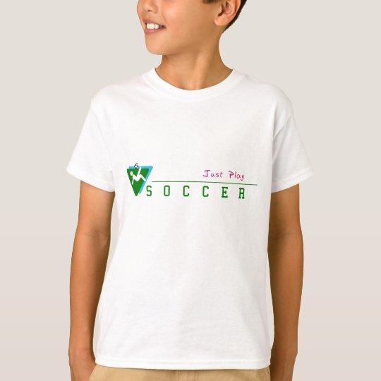 Camiseta del fútbol del juego de los niños apenas
