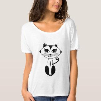 Camiseta del gatito de Flowy