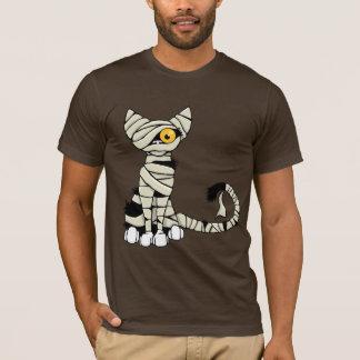 Camiseta del gato de la momia de Halloween