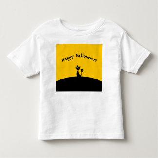 Camiseta del gato del feliz Halloween