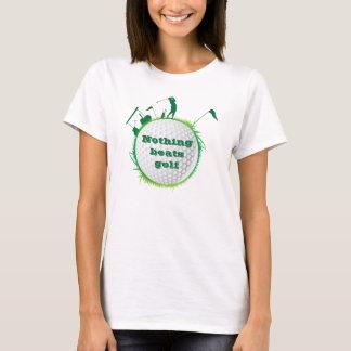"""Camiseta del golf del golfista de la mujer """"nada"""