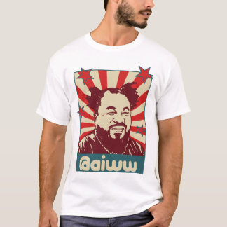 Camiseta del gorjeo del @aiww del Ai Weiwei