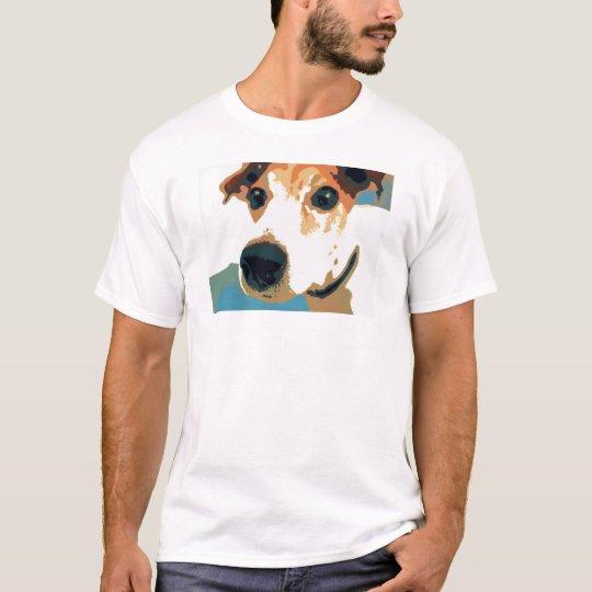 Camiseta del gráfico del arte pop de Jack Russell