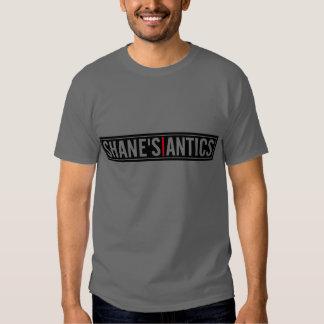 Camiseta del gris de los numeritos de Shane
