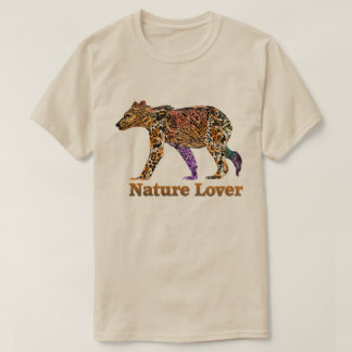 Camiseta del grisáceo del amante de naturaleza