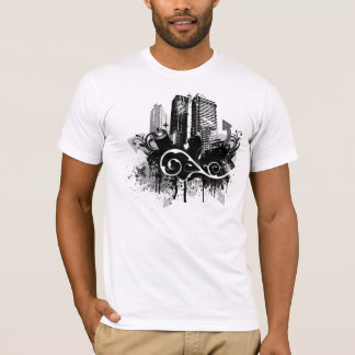 Camiseta del grunge de la ciudad