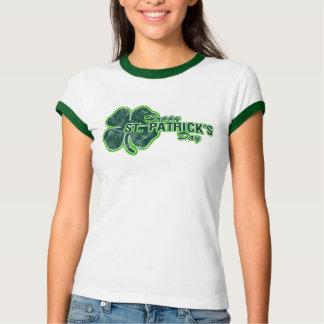 Camiseta del Grunge del trébol del día de St