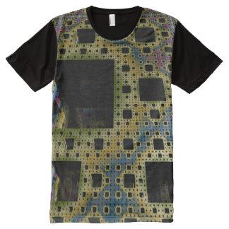 Camiseta del hombre del circuito impreso del cubo
