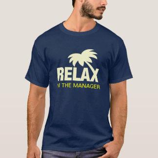 Camiseta del humor para los encargados con lema