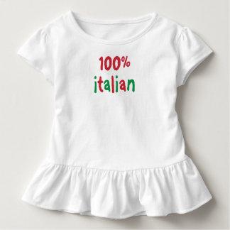 Camiseta del italiano de los chicas