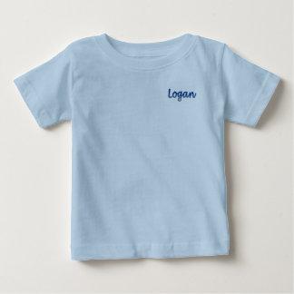 Camiseta del jersey de la multa del bebé de Logan