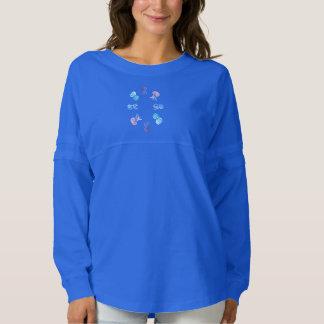Camiseta del jersey del alcohol de las mujeres de