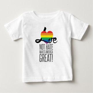 Camiseta del jersey del bebé del odio del amor no