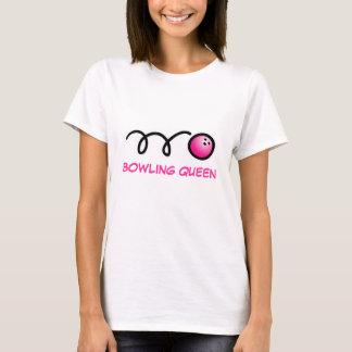 Camiseta del jugador de bolos para las mujeres con
