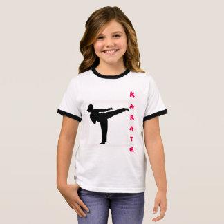 Camiseta del karate de los chicas