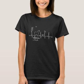 Camiseta del latido del corazón de la alpaca para