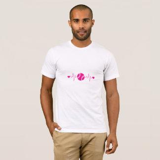 Camiseta del latido del corazón del voleibol