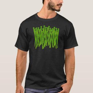 Camiseta del lazo de la cremallera