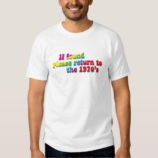 camiseta del lema de los años 70