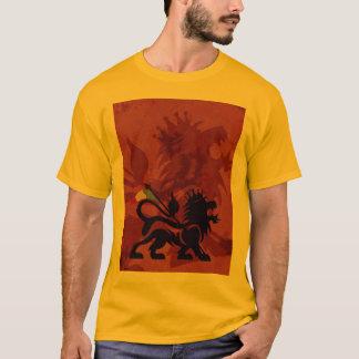 Camiseta del león de Ras del oro