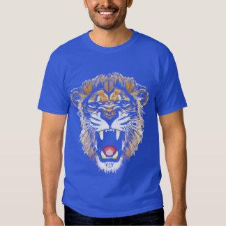 Camiseta del león del rugido