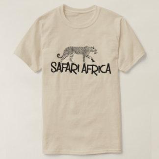 Camiseta del leopardo de África del safari