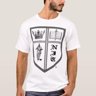 camiseta del liendre-sheild-logotipo