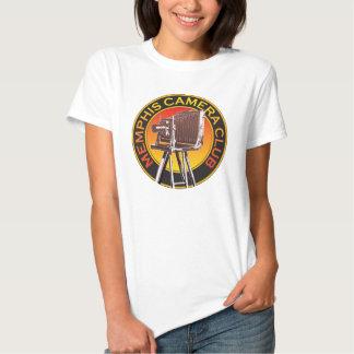 Camiseta del logotipo de la cámara de la opinión