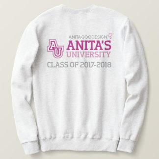 Camiseta del logotipo de la universidad de Anita