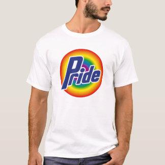 Camiseta del logotipo del arco iris del orgullo